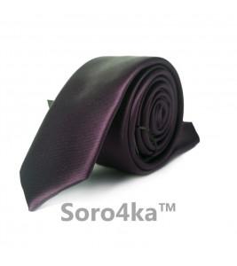 Фиолетовый узкий галстук ASTRON