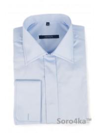 Блакитна сорочка на запонки Middle fit Astron