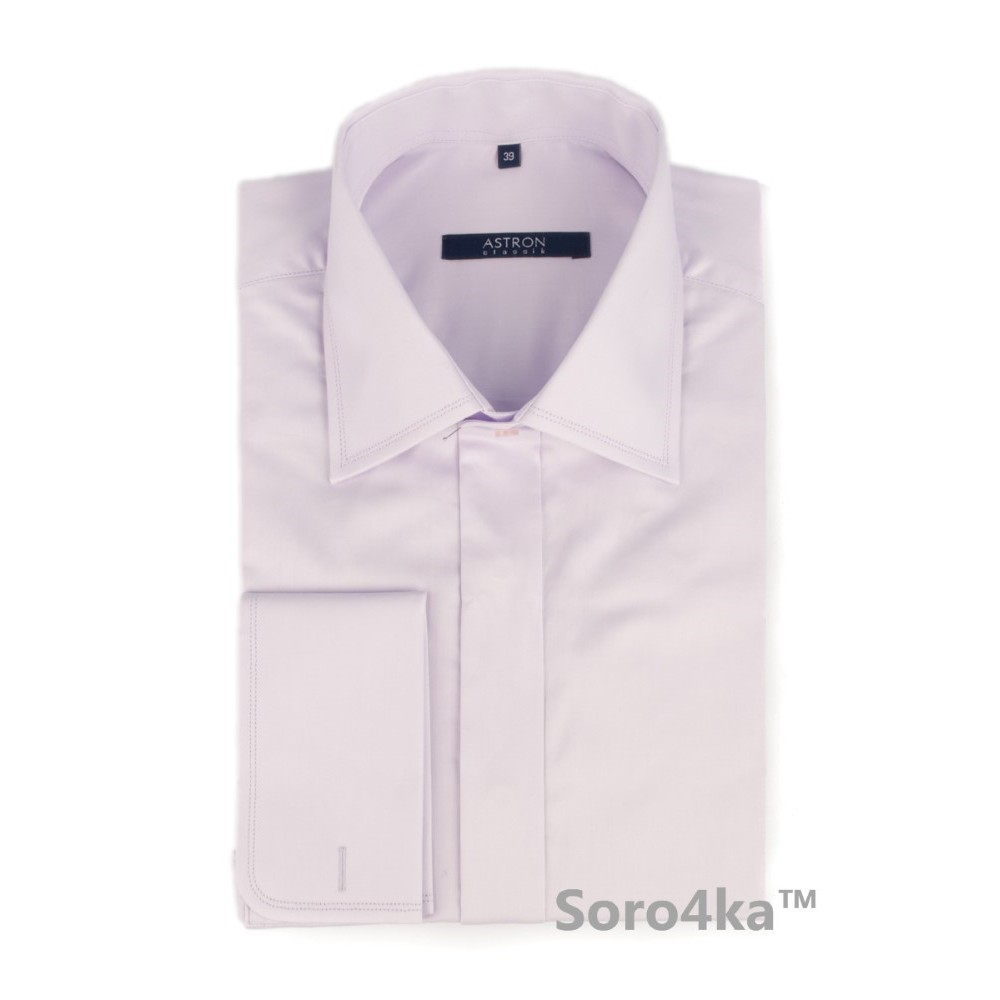 Світло-фіолетова сорочка на запонки Middle fit Astron 4f253aefcf229