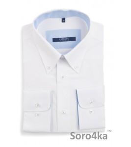 Стильна біла сорочка Middle fit Astron