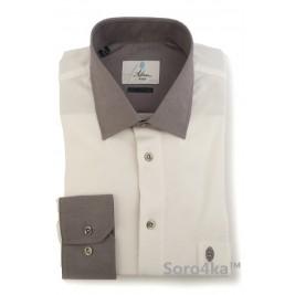 Біла сорочка поло Slim Fit Astron на довгий рукав
