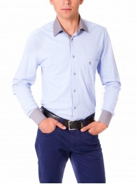 Сорочка Slim Fit Astron Blue Casual Textil