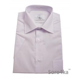 Біла приталена сорочка Astron Premier на короткий рукав