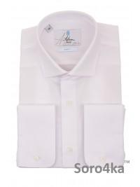 Біла приталена сорочка Slim fit Astron