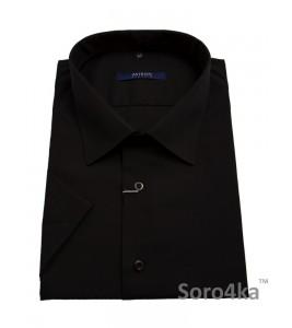 Велика чорна сорочка Astron на короткий рукав