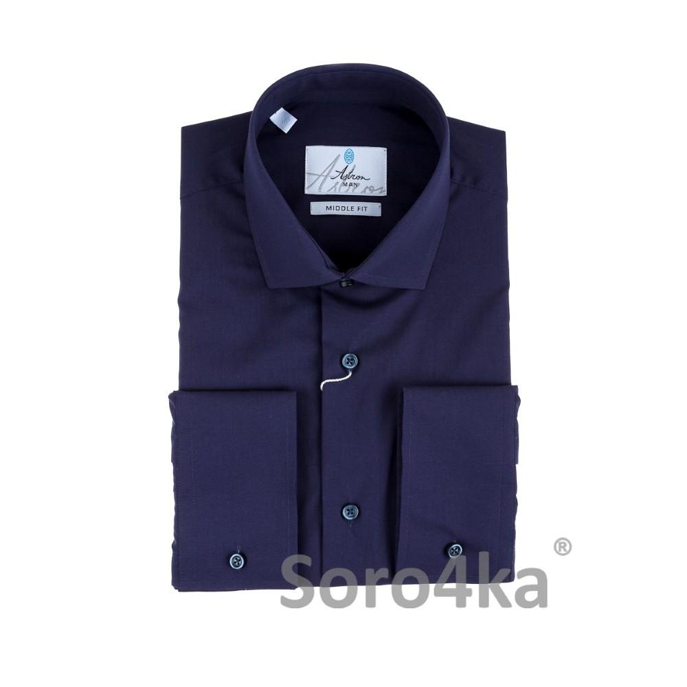 Темно-синя сорочка на довгий рукав Astron  11d09bd795e73