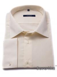 Велика кремова сорочка Middle Fit Astron Biege Plain