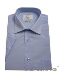 Блакитна сорочка Astron на короткий рукав