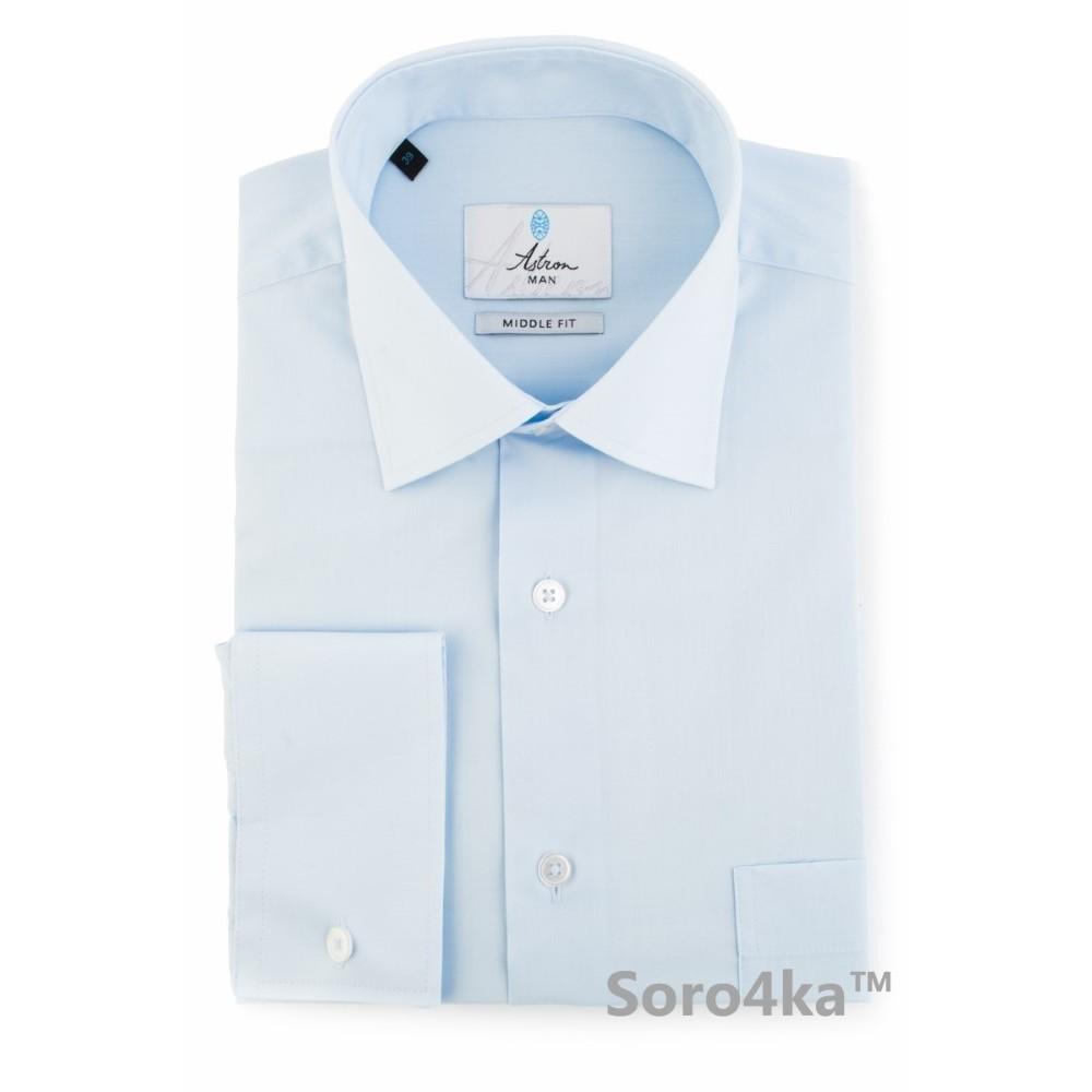 c1d39d6479b Голубая рубашка мужская Astron Premier Line