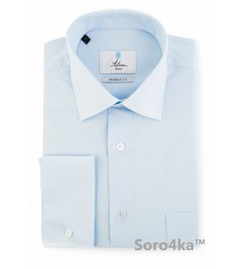 Блакитна сорочка Middle Fit Astron Light Blue Simple PREMIER LINE
