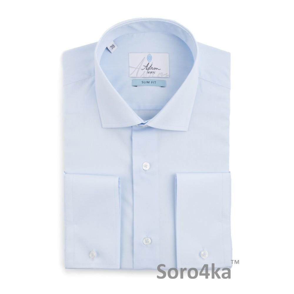 Блакитна приталена сорочка Slim fit Astron Light Blue Simple 3d6d956156c75