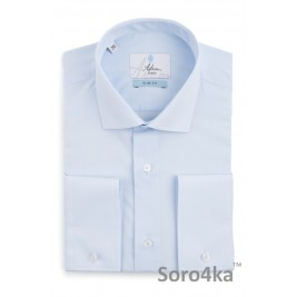 Блакитна приталена сорочка Slim fit Astron Light Blue Simple