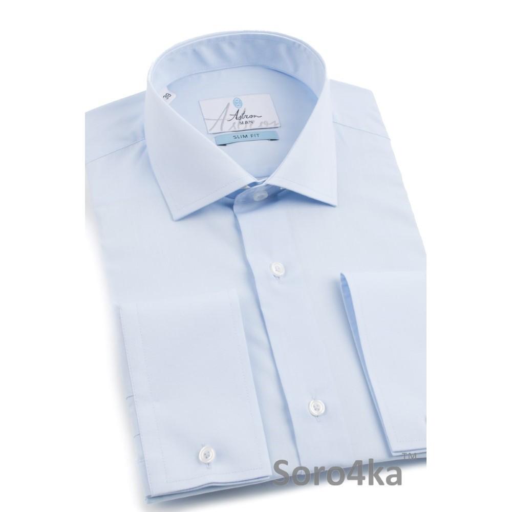 1ef11bf8dbb Голубая приталенная рубашка Slim fit Astron