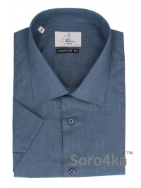 Велика сорочка на короткий рукав Middle Fit Astron Blue Narrow