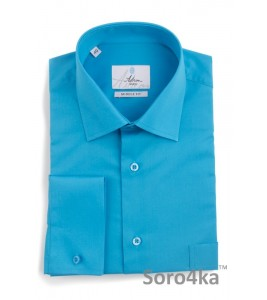 Яскрава синя сорочка Middle fit Astron