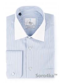 Синя сорочка з білим коміром Astron