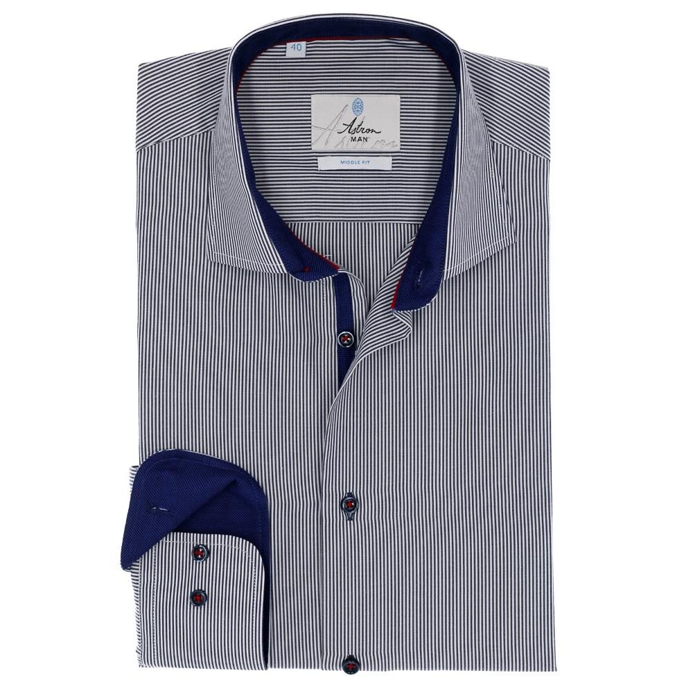 23a0922b091 Купить мужскую рубашку в мелкую синюю полоску с бесплатной доставкой в  интернете