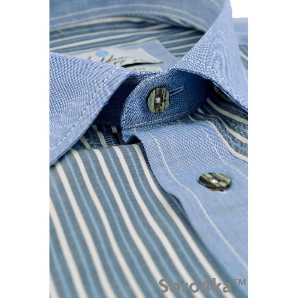 Синя сорочка на короткий рукав Astron 77c970a1e9955
