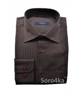 Сорочка Middle Fit Astron Grey&Red Stripe