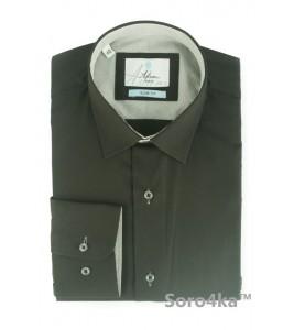 Стильна чорна сорочка Slim fit Astron