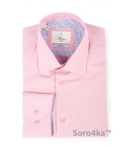Рожева приталена сорочка Slim Astron