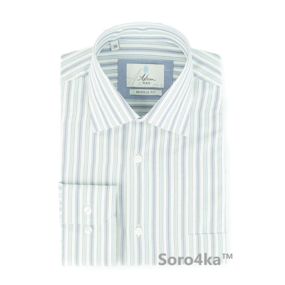 06381767f48 Светло-голубая рубашка в полоску Astron