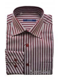 Сіра сорочка в червону смужку Middle Fit Astron Classik