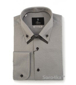СЕРАЯ РУБАШКА MIDDLE FIT ASTRON GREY COMBI COLLAR