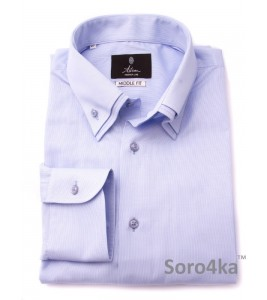 ГОЛУБАЯ РУБАШКА MIDDLE FIT ASTRON LIGHT BLUE COMBI COLLAR