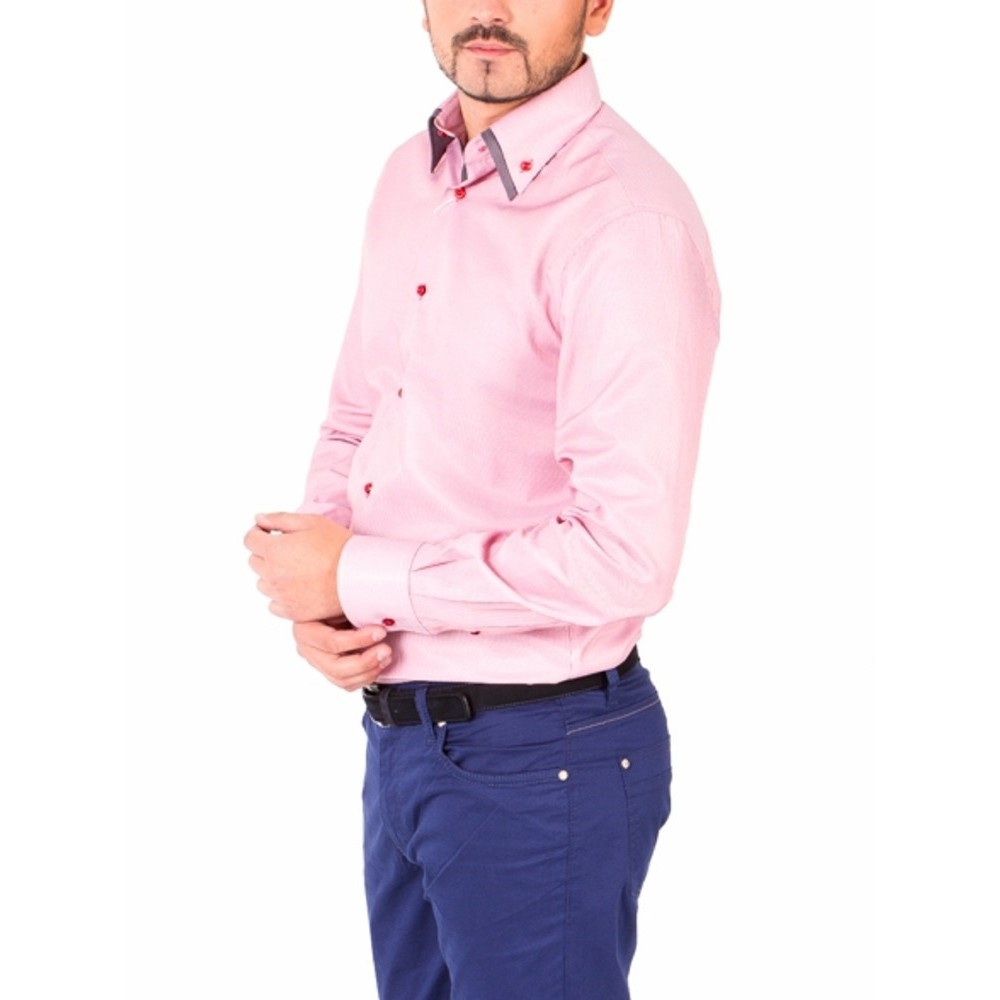 Модна сорочка чоловіча з двійним коміром  634398c3ce02f