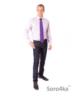 ФИОЛЕТОВАЯ РУБАШКА MIDDLE FIT ASTRON WHITE & PURPLE STRIPE