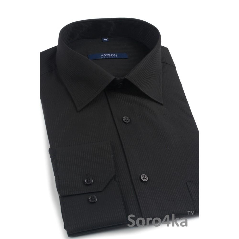 973733a88b4 Классическая черная рубашка с длинным рукавом в полоску Astron ...