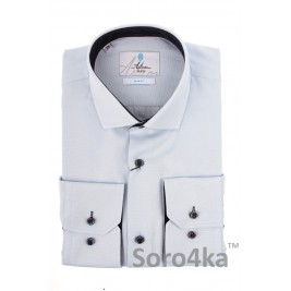 БЛАКИТНА ТЕКСТУРНА СОРОЧКА SLIM FIT ASTRON