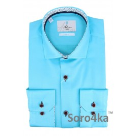 БЛАКИТНА ПРИТАЛЕНА СОРОЧКА ASTRON SLIM FIT AZUR BLUE