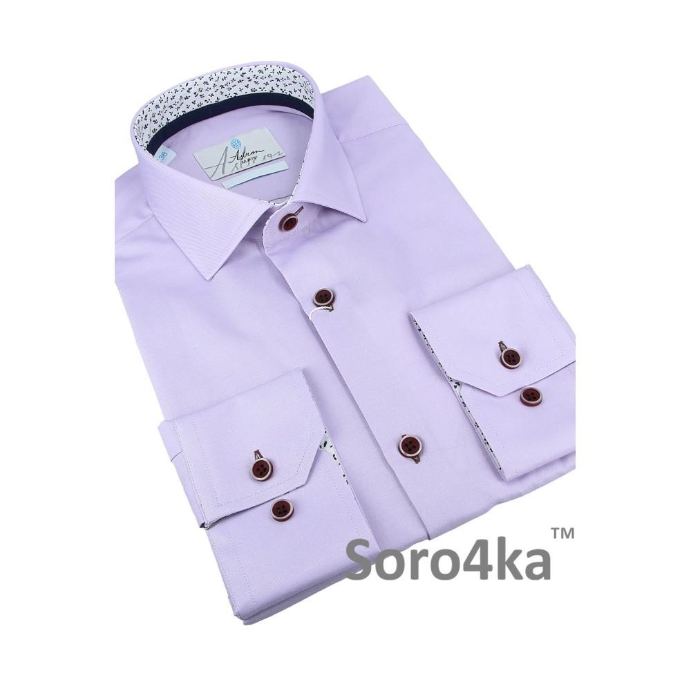 Купити фіолетову напівприталену сорочку в інтернет магазині з ... d2a9719e75ce5