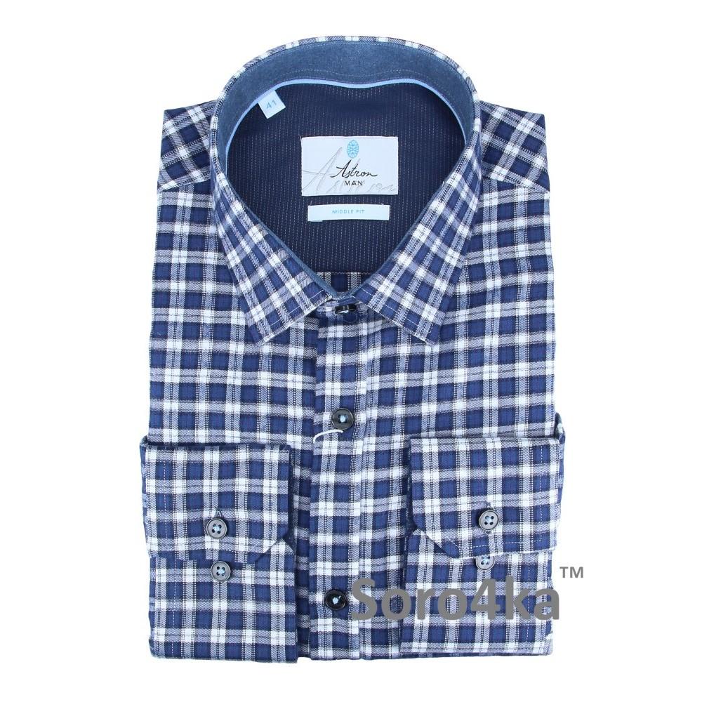 a66c556de30 Купить синюю фланелевую рубашку в клетку с бесплатной доставкой в  интернете