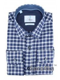 СИНЯЯ РУБАШКА В КЛЕТОЧКУ ASTRON MIDDLE FIT FLANNEL