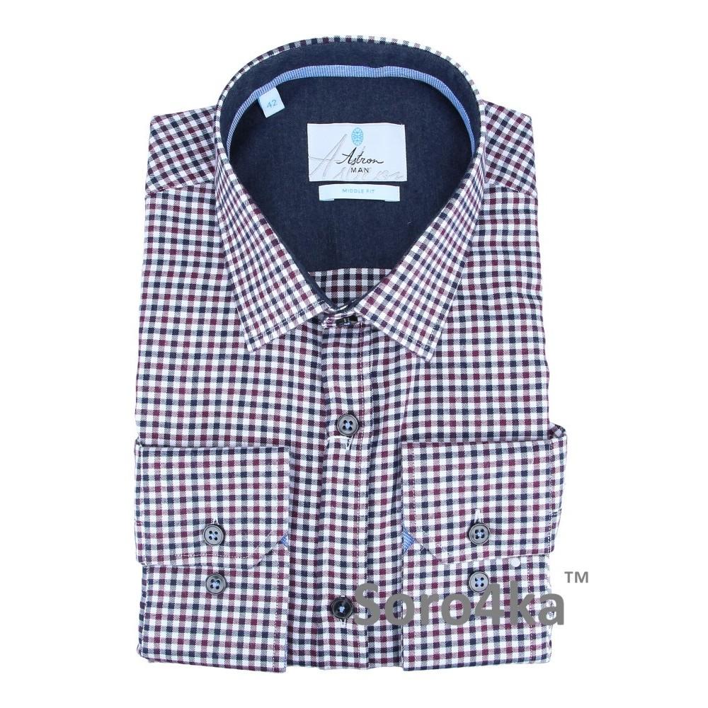0313d99a762 Купить фланелевую рубашку в красную и синюю клетку с бесплатной доставкой в  интернете