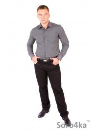 Сорочка Slim Fit Astron Black&Purple Stripe
