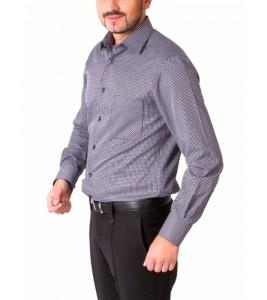 Коричнева сорочка в клітинку Middle Fit Astron