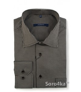Сорочка Middle Fit Astron Brown&White London Check
