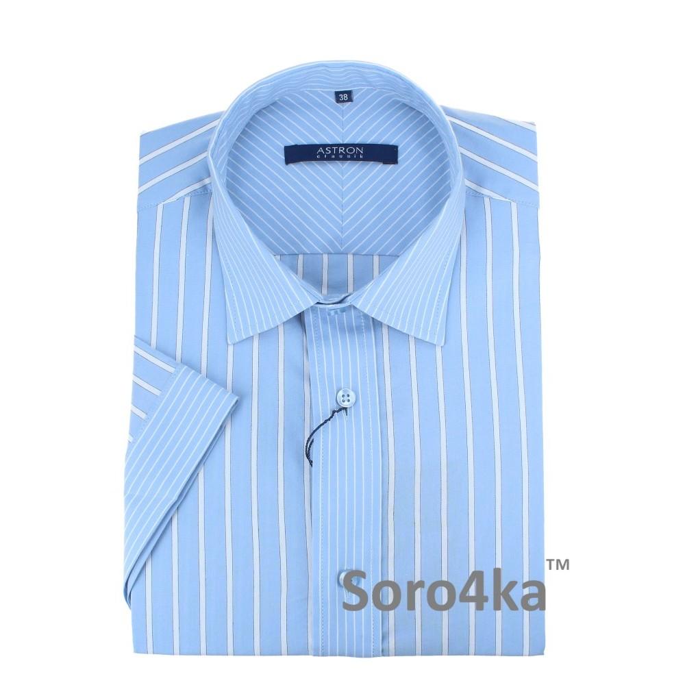 Купить фиолетовую мужскую рубашку Astron с коротким рукавом с ... 61eb53166d86d