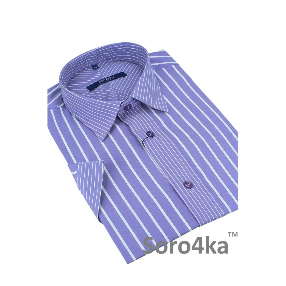 Фіолетова сорочка Astron на короткий рукав 76cdab6f5afa1