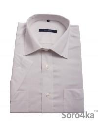 Біла приталена сорочка Astron на короткий рукав