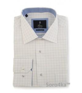 Класична біла сорочка в клітинку Astron