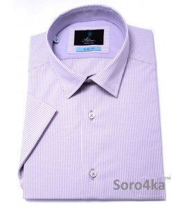 Фіолетова Сорочка на короткий рукав Slim fit Astron