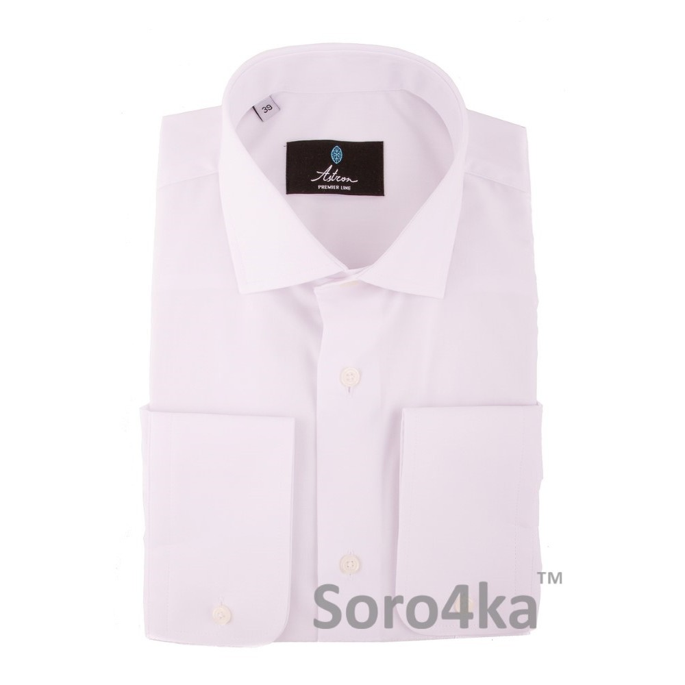 Купити класичну білу чоловічу сорочку на довгий рукав не дорого з  безкоштовною доставкою в Києві e437f692488ec