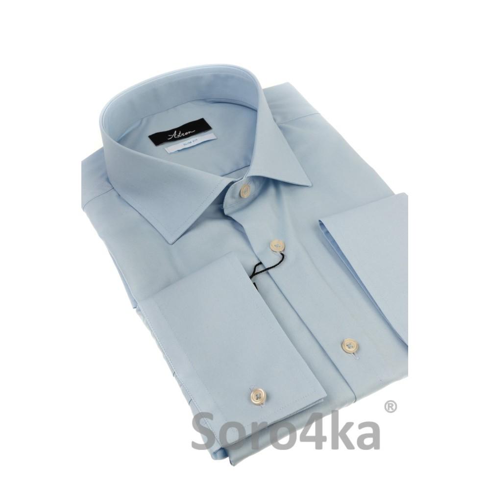 cc65c64cfa0 Купить голубую приталенную рубашку в интернет магазине с бесплатной ...