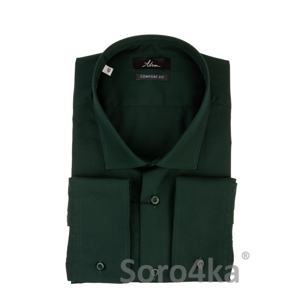 Большая темно-зеленая рубашка Astron  00995278495c2