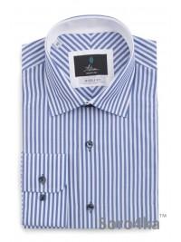 Синя сорочка в смужку Middle fit Astron